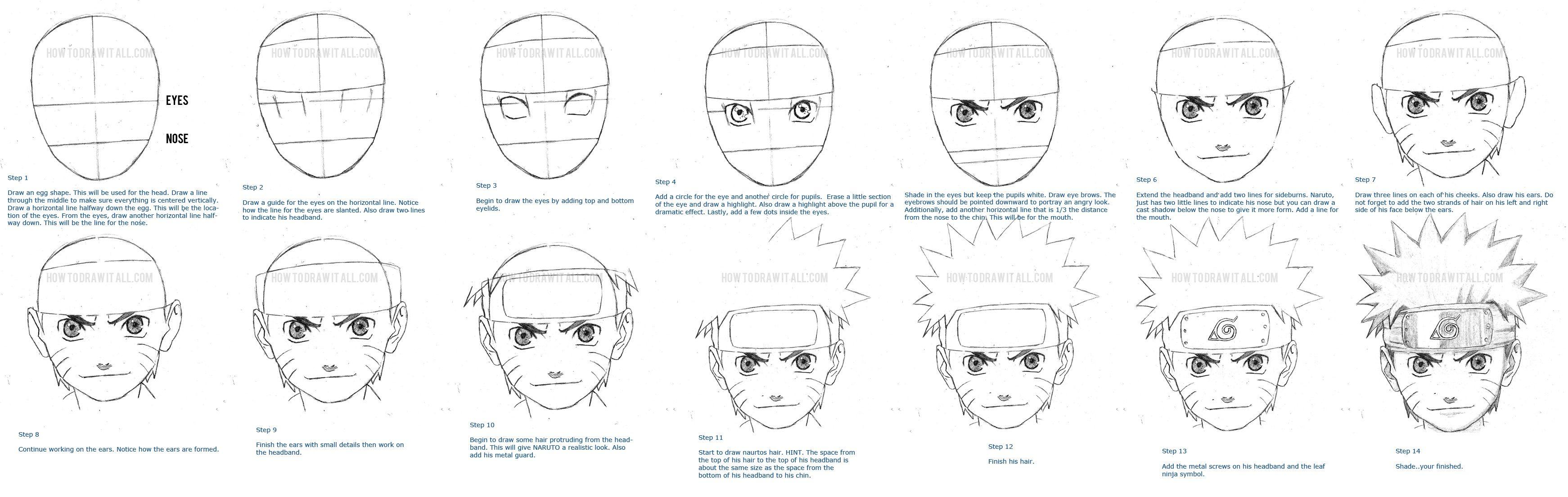 How To Draw Naruto Naruto Drawings Drawings Naruto