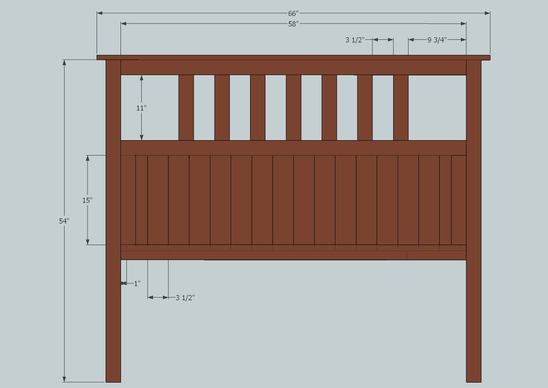 Full Size Slatted Headboard | Slatted headboard, Full size