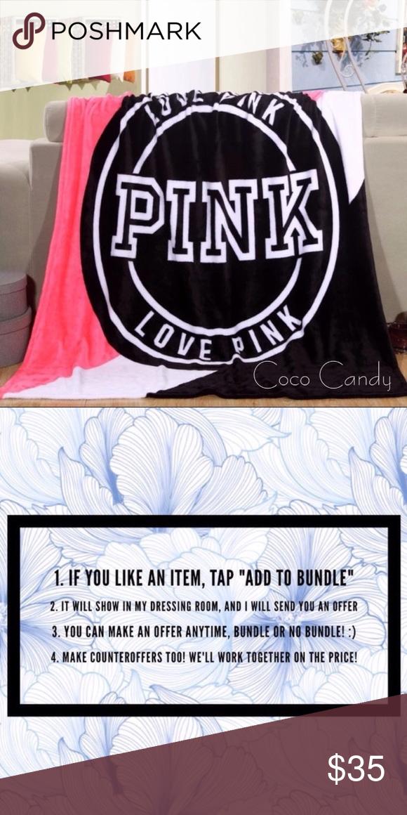 b45d234848e ⭐️SALE‼️Victoria s Secret Blanket Victoria s Secret Blanket✨ Size  130cm x  150cm✨