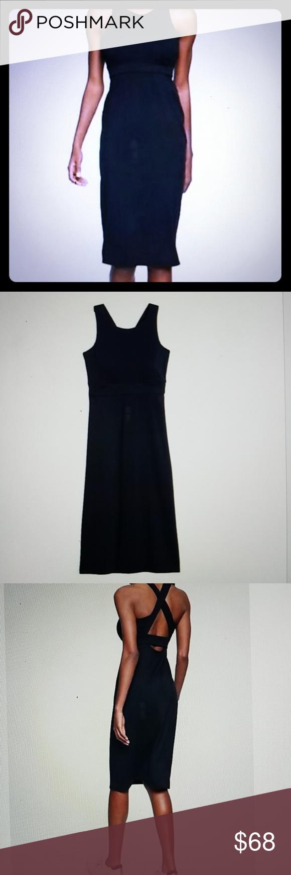 94e1cdc7529d8 Athleta Deep Breath Bralette Dress S LT Navy NWT   Athleta Deep Breath  Bralette Dress Navy