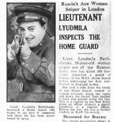 Pin on Lyudmila Pavlichenko