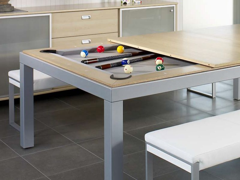 Metal Line Table By Fusiontables Saluc Pool Table Dining Table