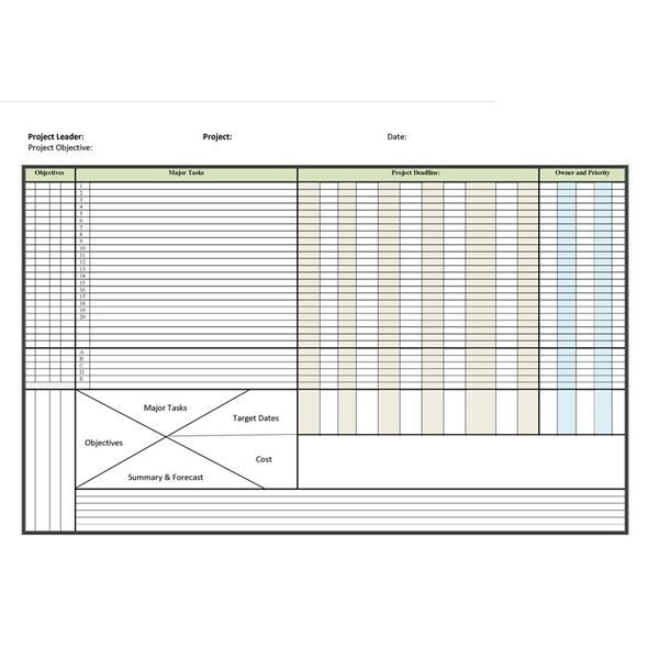 microsoft office project plan template