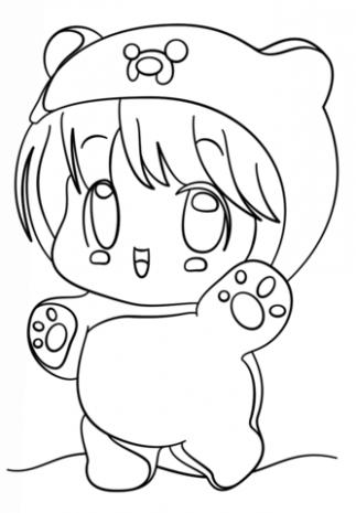 Kawaii Chibi Finn Coloring Page Free Printable Coloring Panda Coloring Pages Cute Coloring Pages Chibi Coloring Pages