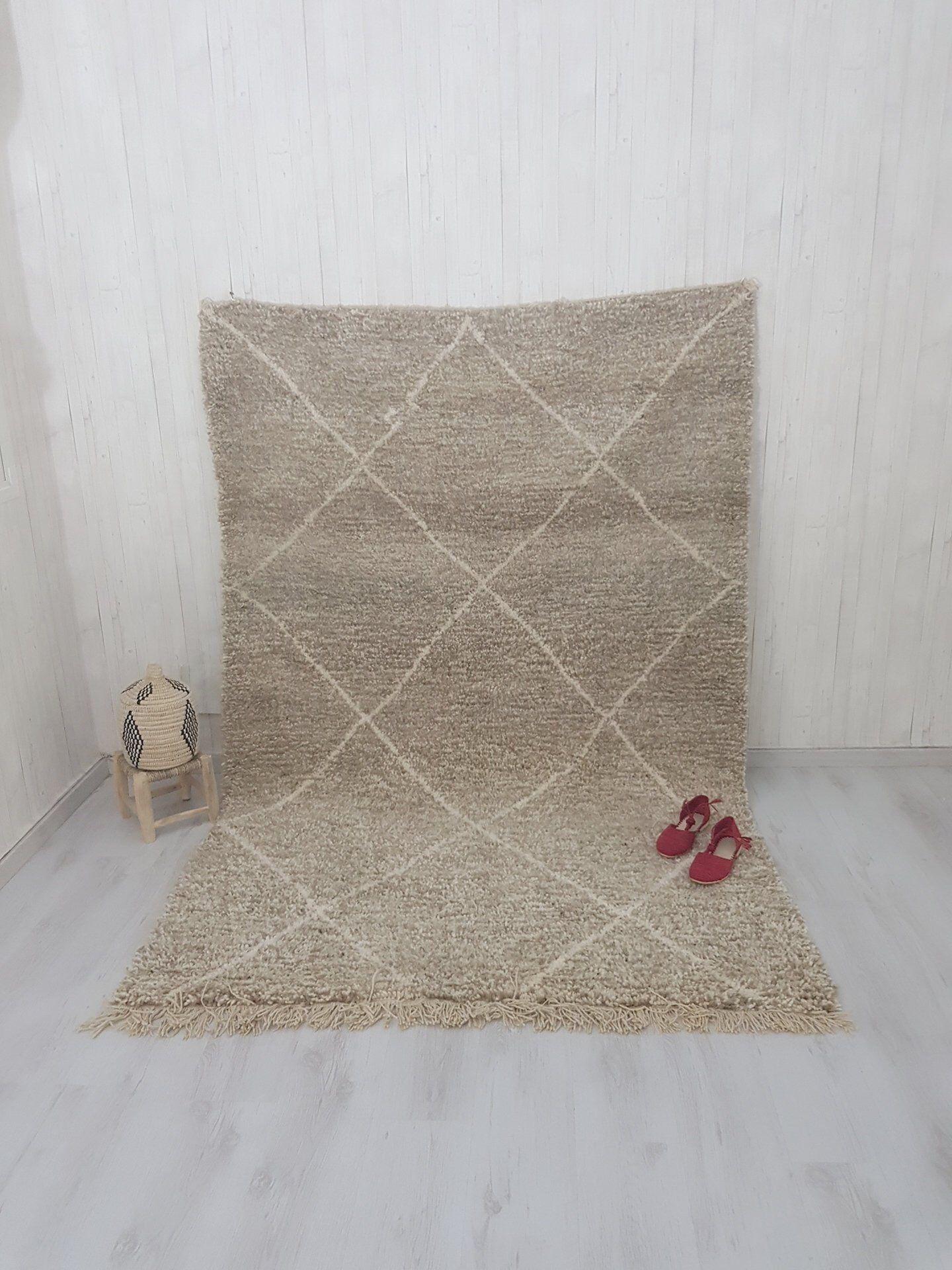 Beni Ouarain 5 3x7 9 Ft Rare Moroccan Beni Ourain Rug Authentic Rug Morrocan Rug Aspro Rug 30 Off Wool Berber Carpet Handmade Ivory Rug Berber Carpet Authentic Rugs Carpet Handmade
