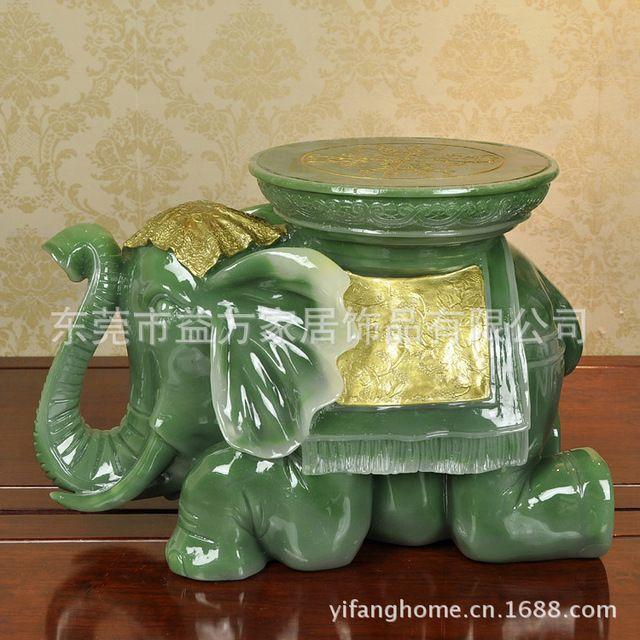 Estilo chinês imitação de Jade elefante sapatos fezes artesanato resina de decoração presente de inauguração