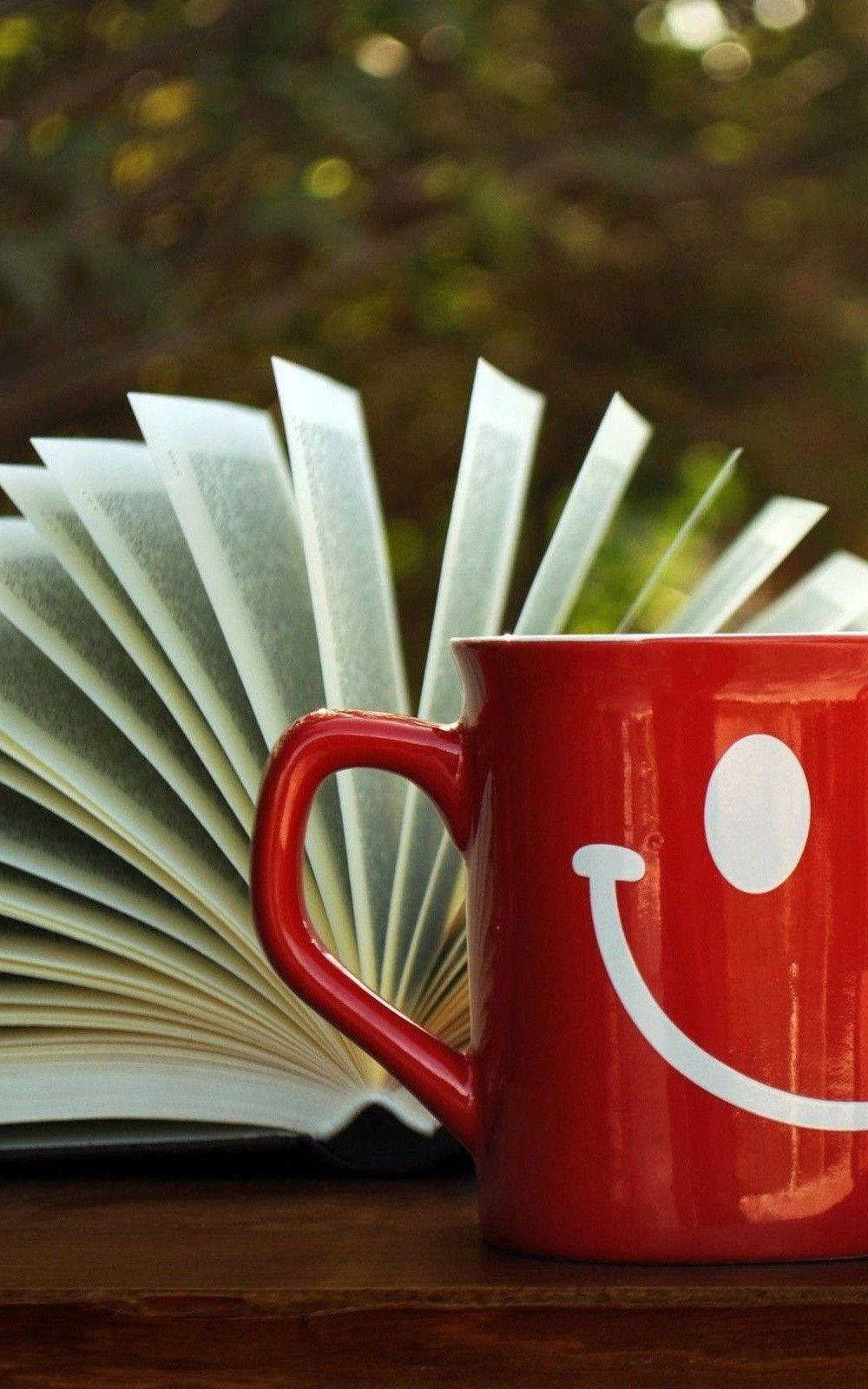 Open Book Red Smile Mug Hd Wallpaper
