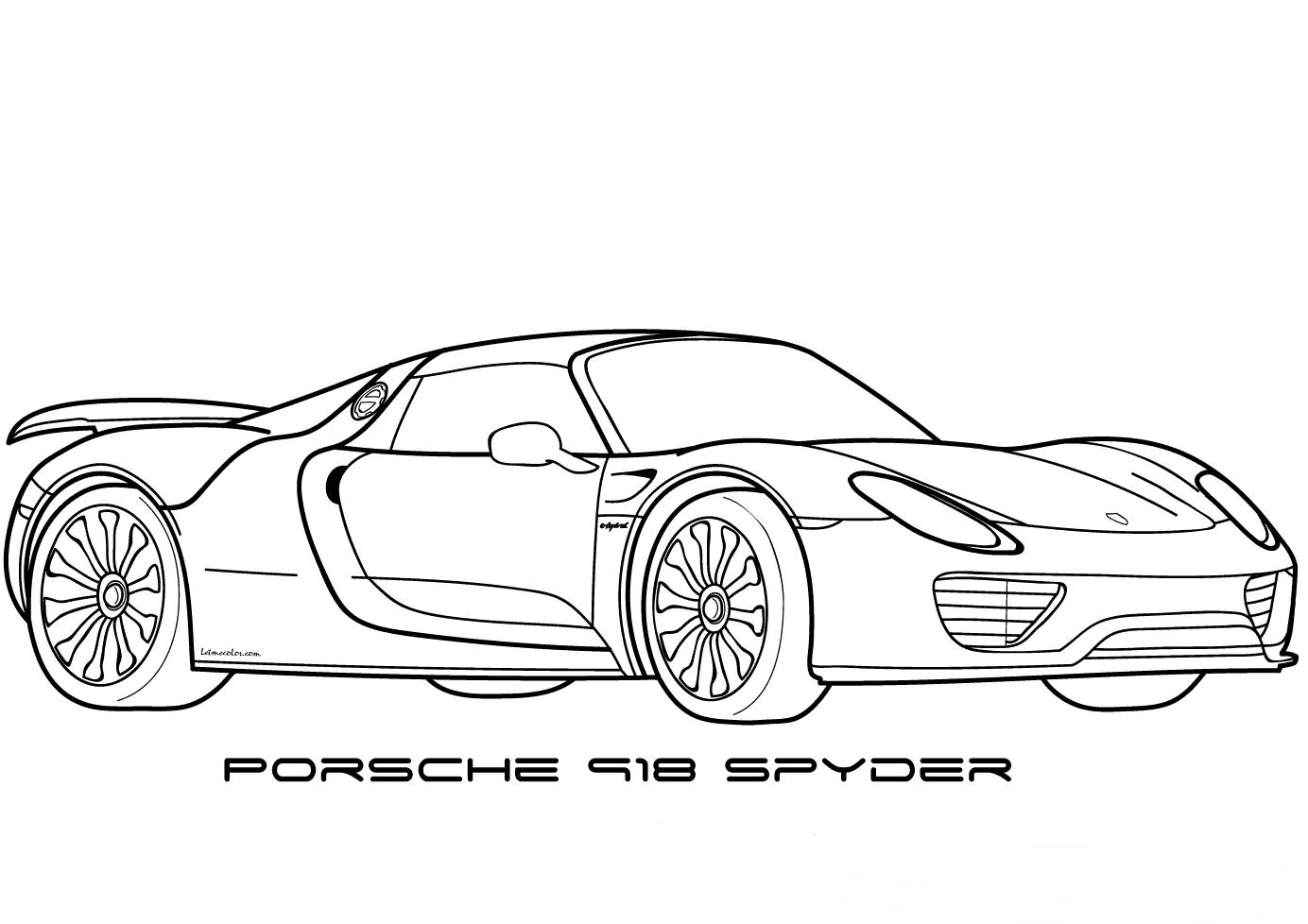 Ausmalbilder Porsche 918 Spyder Malvorlagen