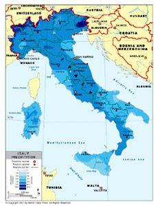 Italy Precipitation Map Italy Map Italy World Geography