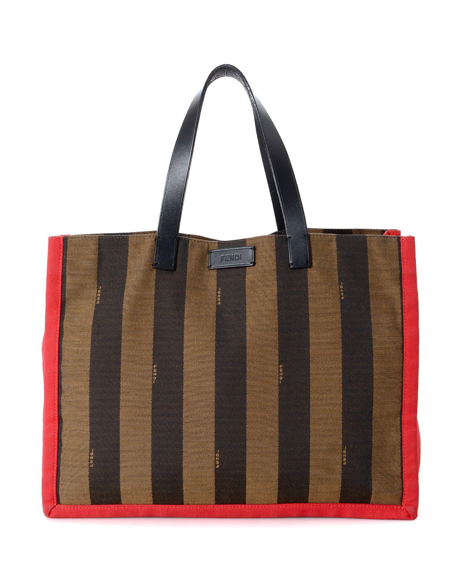 65b2d4b3ede8b4 Fendi Pequin Tote Bag - Vintage | *Century 21 Stores* | Tote Bag ...