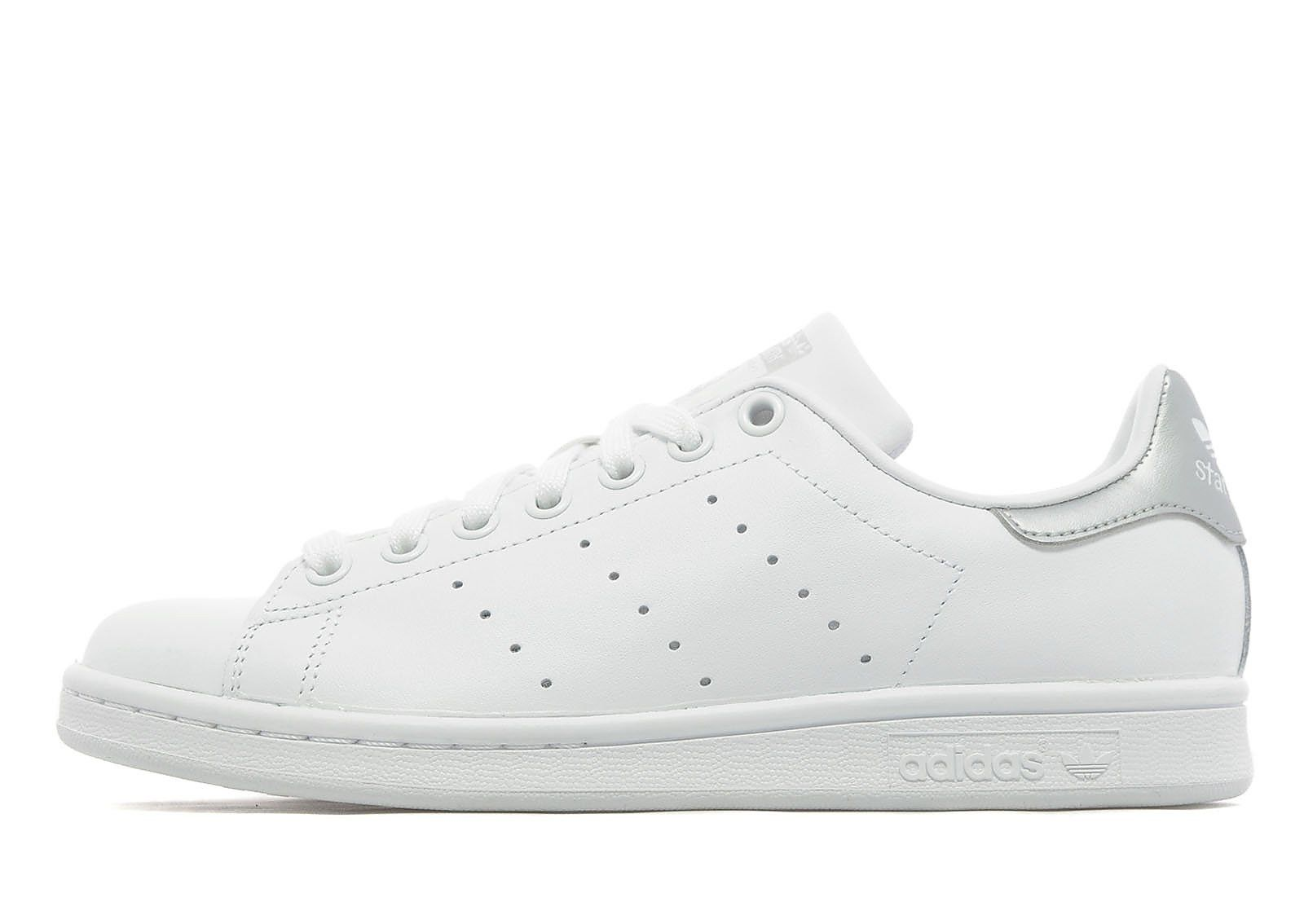 adidas Originals Stan Smith Women\u0027s - White/Silver - Womens