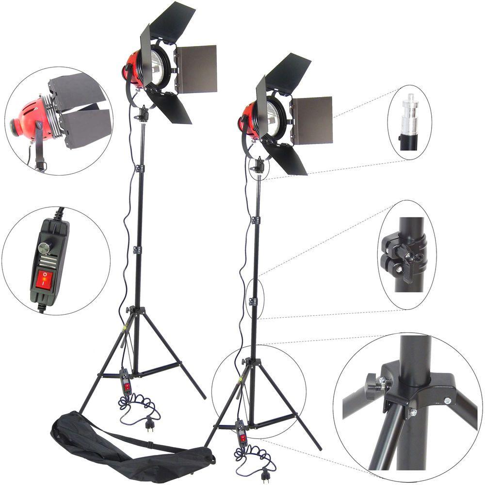 DynaSun 2x DG800 800W Kit PRO d'éclairage Torche Lumière Halogène avec 2 Trépied in Photo, caméscopes, Eclairage, studio, Eclairage continu | eBay
