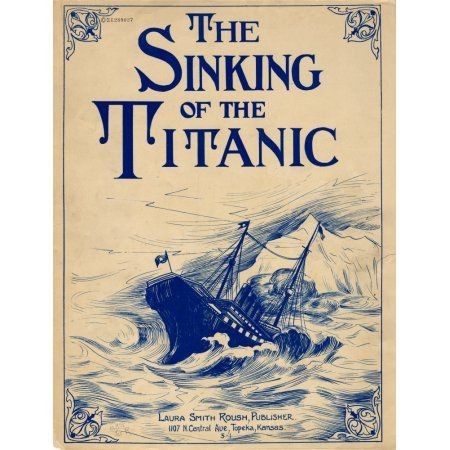 Sheet music The Sinking of the Titanic 1912 Canvas Art - (18 x 24)