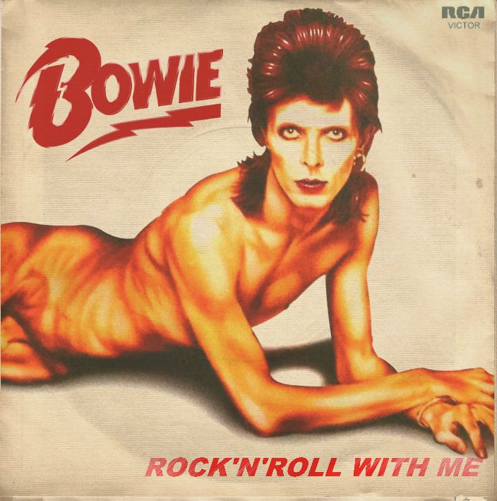 """David Bowie """"Rock'n'Roll With Me"""" 7-inch single (front)"""