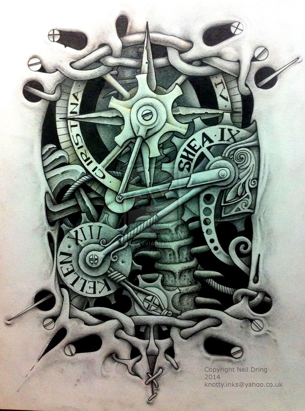 Celticsteam By Tattoo Design On Deviantart Back Tattoo Gear Tattoo Mechanic Tattoo