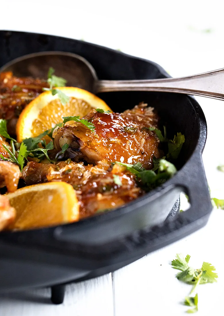 Sticky Orange Chicken Thighs - completely oven-baked ...