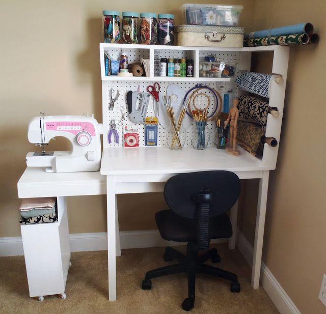 Lazy Liz On Less Arts And Craft Center Craft Tables With Storage Craft Table Diy Craft Storage Furniture
