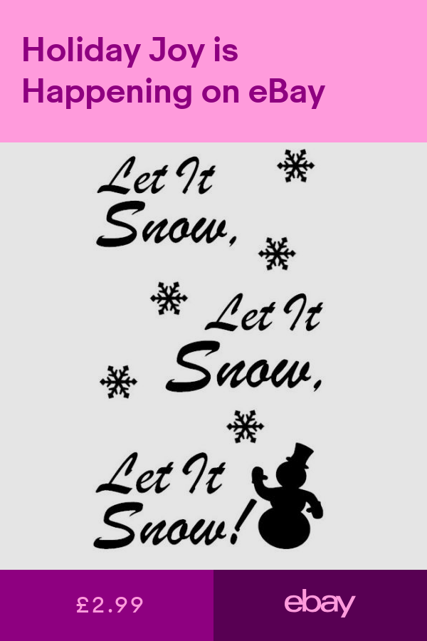 Let It Snow.. Christmas Vinyl Decal Sticker for Wine Bottle Craft