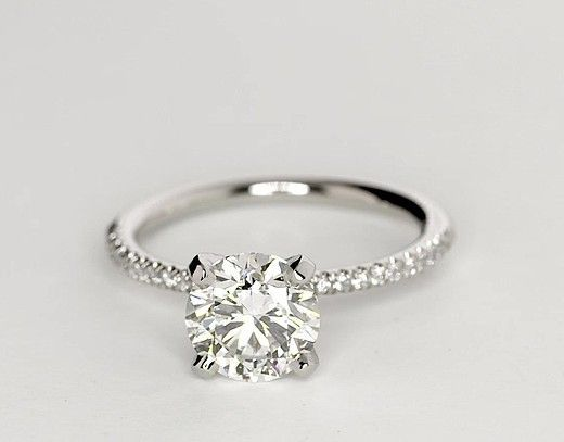 RS Jewels 925 Sterling Silver Round Brilliant Zirconia Solitaire Ring Weighing 1.00ct In 6 Claw Mount XdzpE