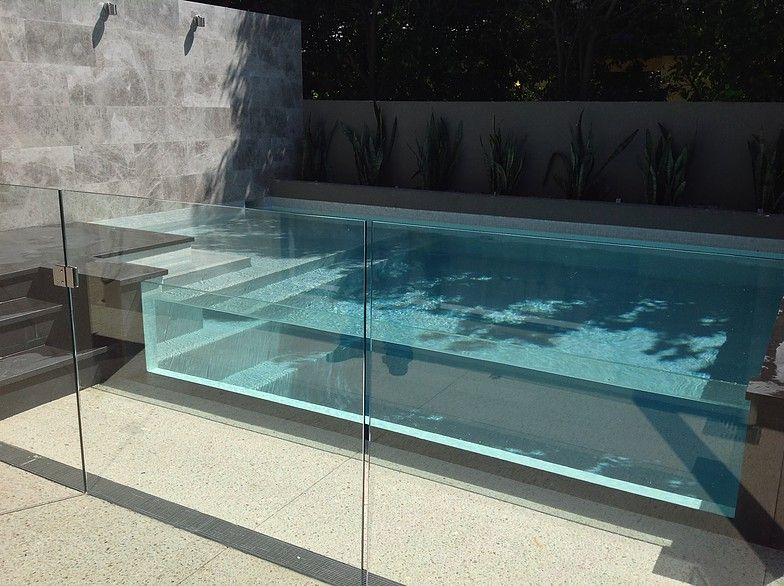 Plunge Pool Design With Glass Wall Small Backyard Pools