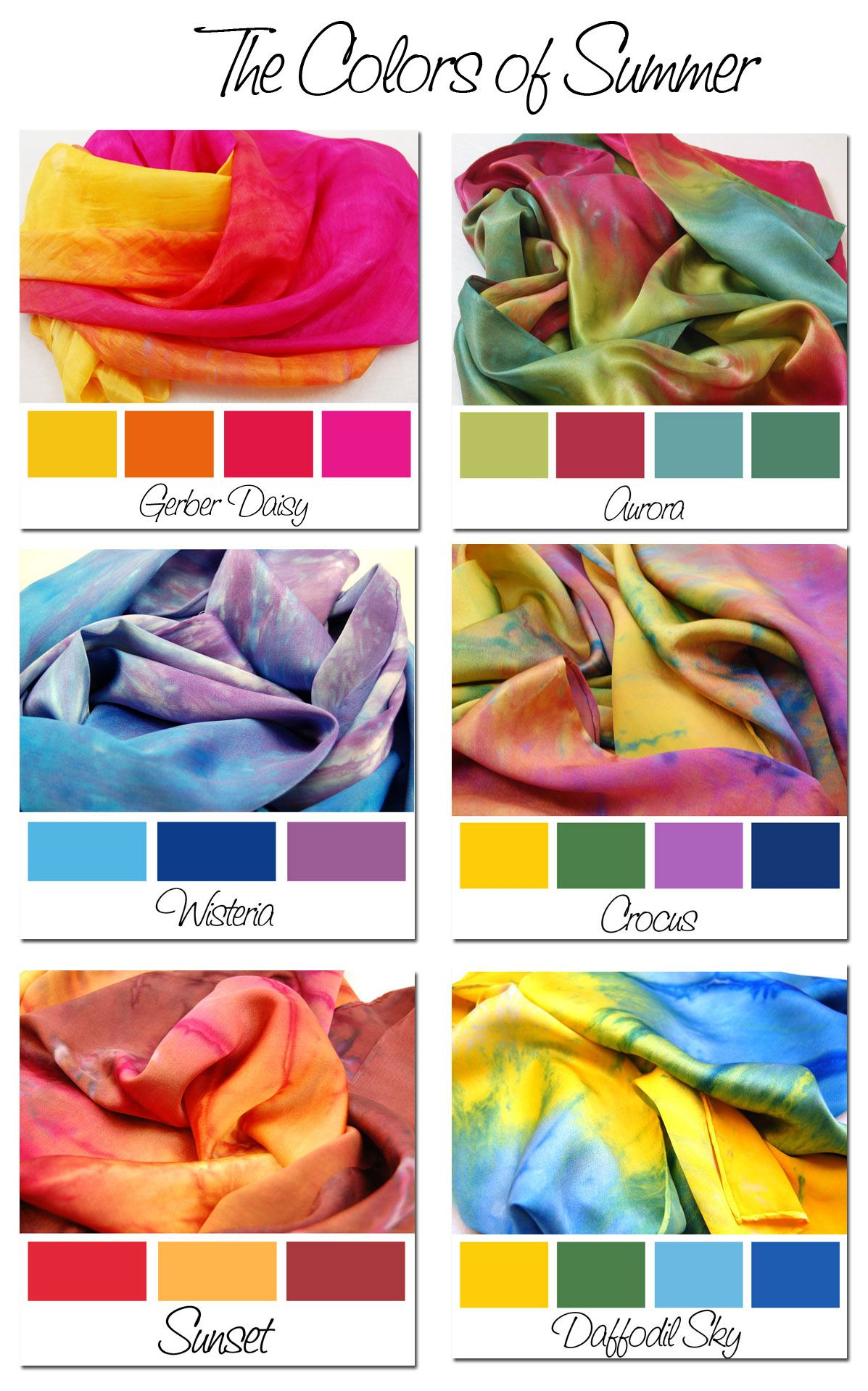 Colors-of-Summer | Color Palettes | Tie dye colors, How to ...