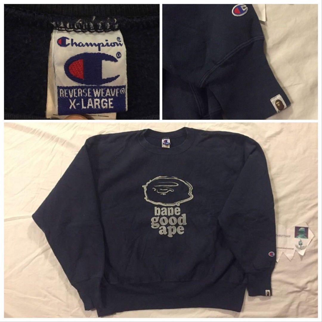 bape x champion sweatshirt
