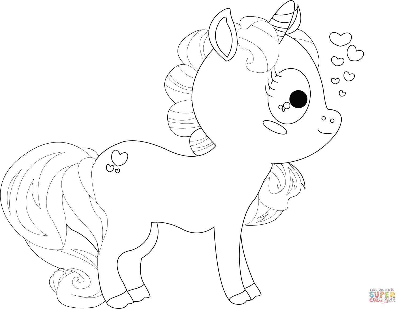 cartoon-unicorn-coloring-page.png (1500×1158) | tekeningen ...