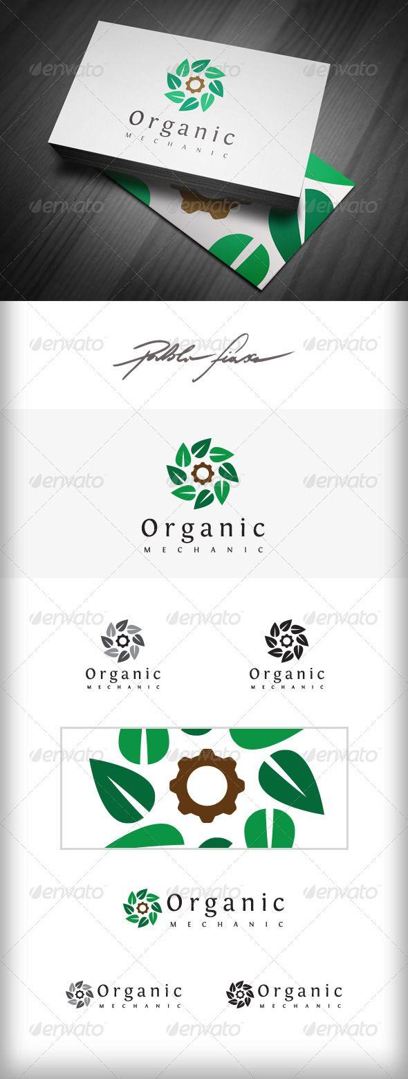 organic industry logo lawn care logo eco logo