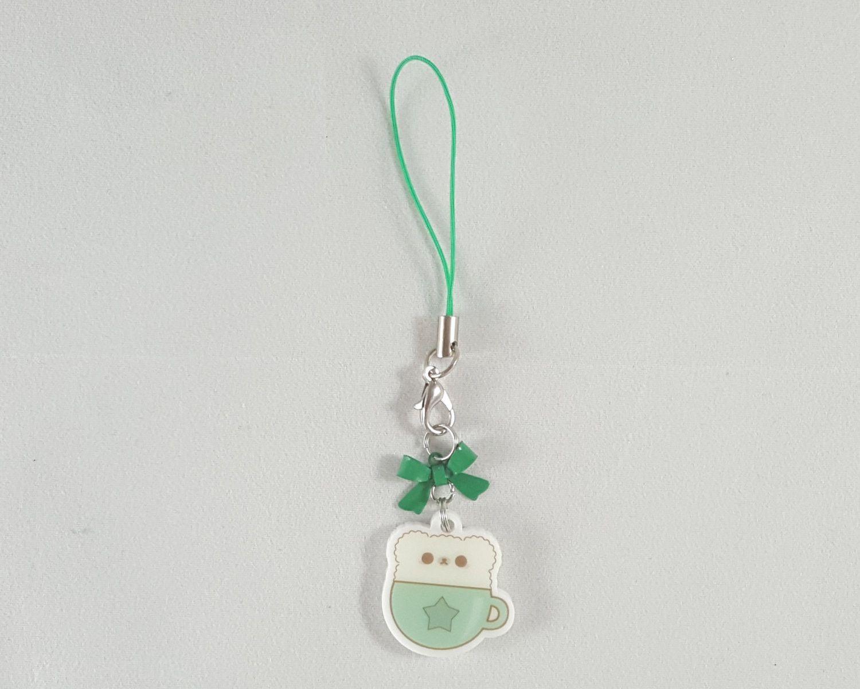 Bear Latte Charm Phone Charm