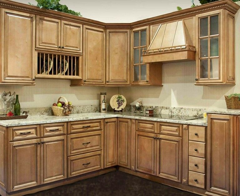 Buckskin Color Cabinets On Top Maple Kitchen Cabinets Kitchen Cabinet Design Glazed Kitchen Cabinets