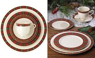 Lenox winter greeting plaid 5 piece place setting christmas lenox winter greeting plaid 5 piece place setting m4hsunfo