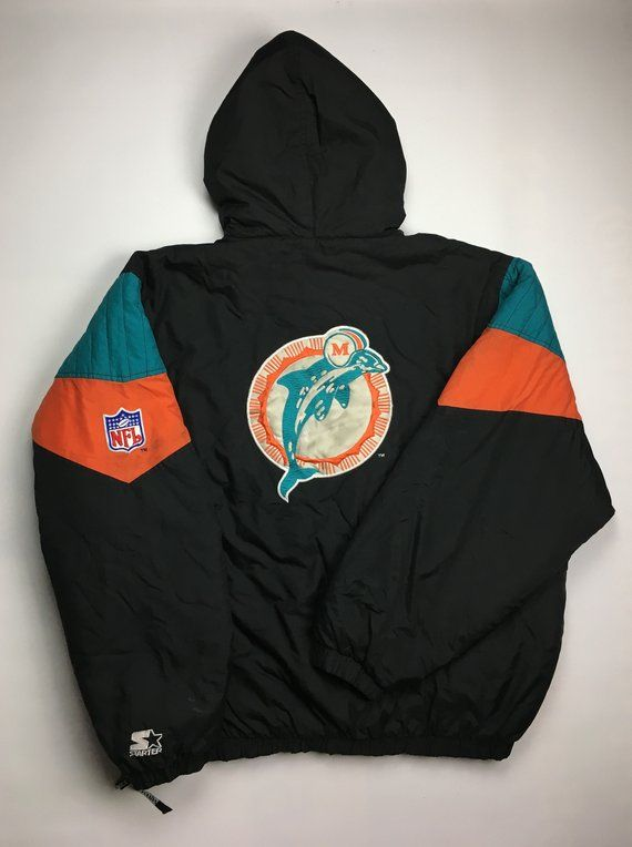 Discount 90s Vintage Miami Dolphins Starter Windbreaker Jacket 90s DOLPHINS  for cheap