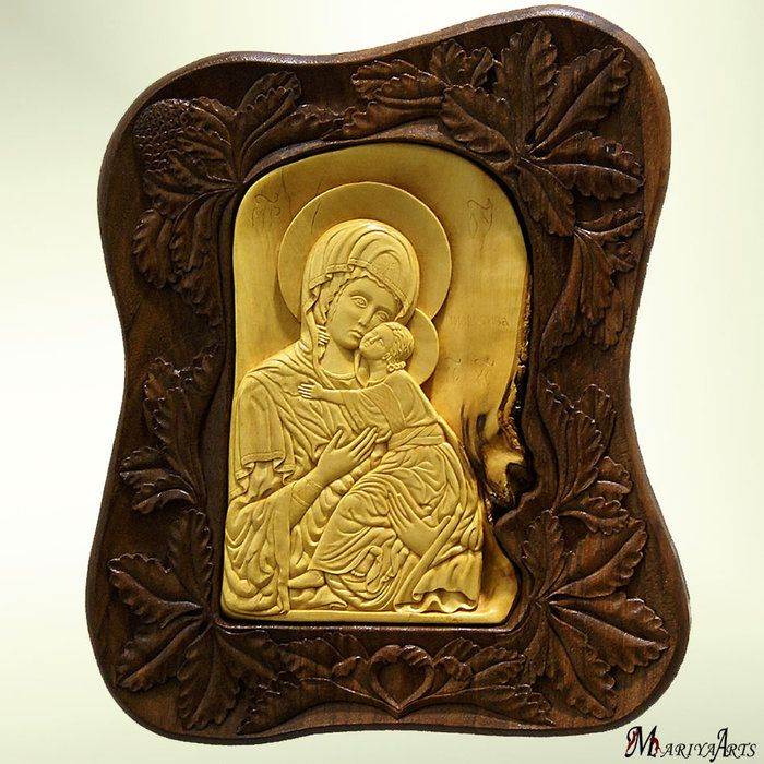 Virgin Mary and Jesus   1. Wood Sculpture   Pinterest   Virgin mary ...