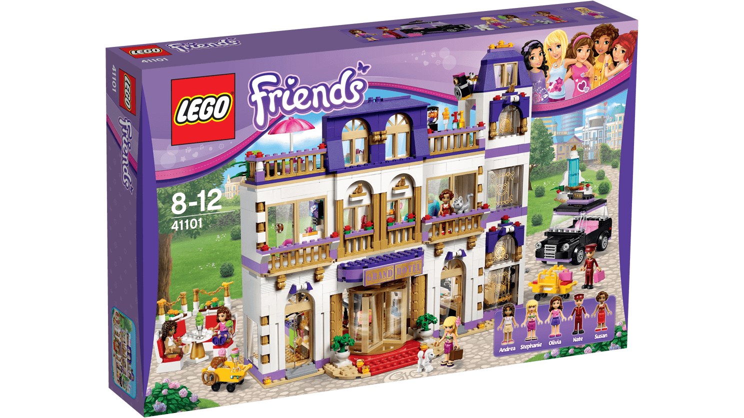 41101 Heartlakes Grand Hotell - Produkter - Friends LEGO.com