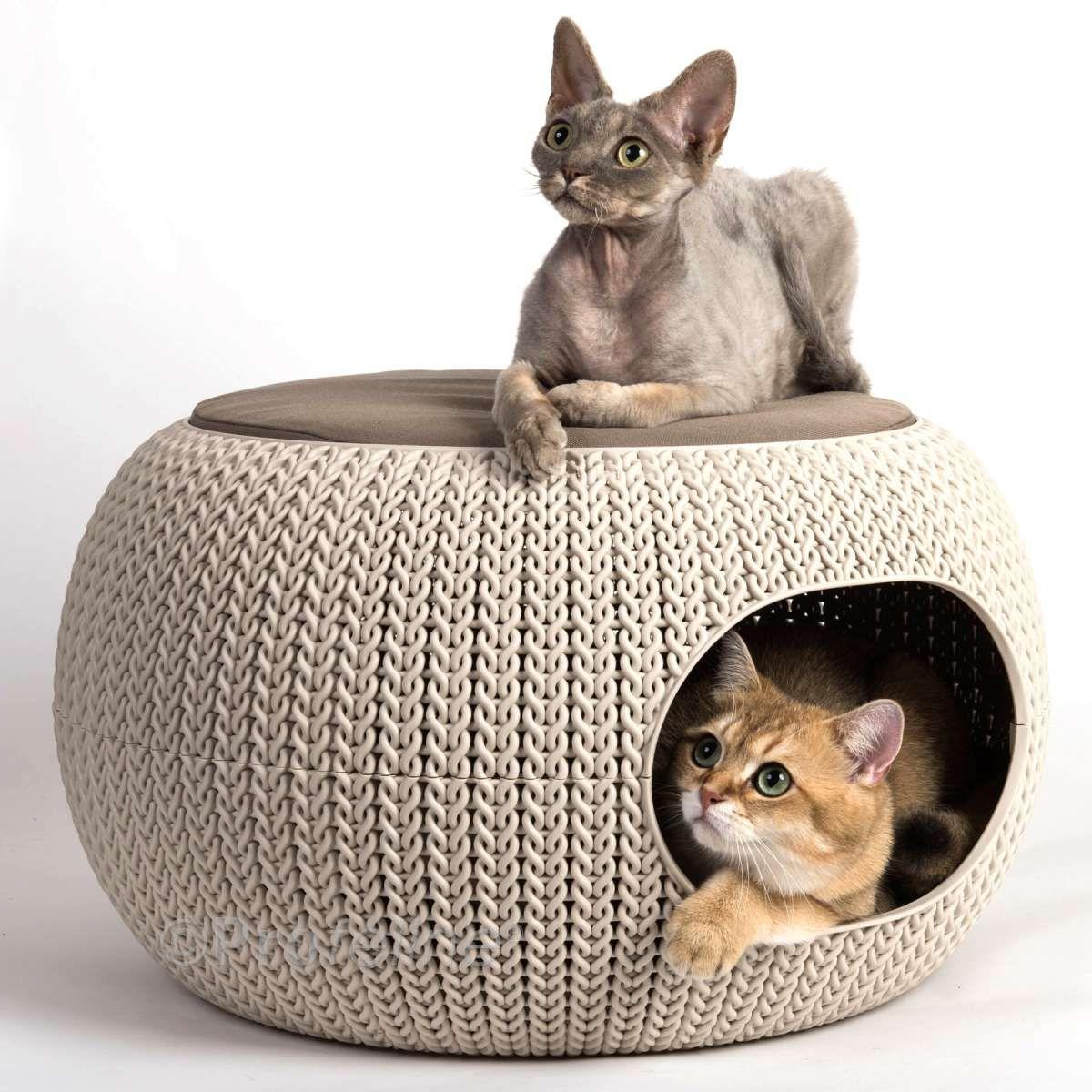 Curver Cozy Pet Home Knit Haustierbetten, Katzen bett