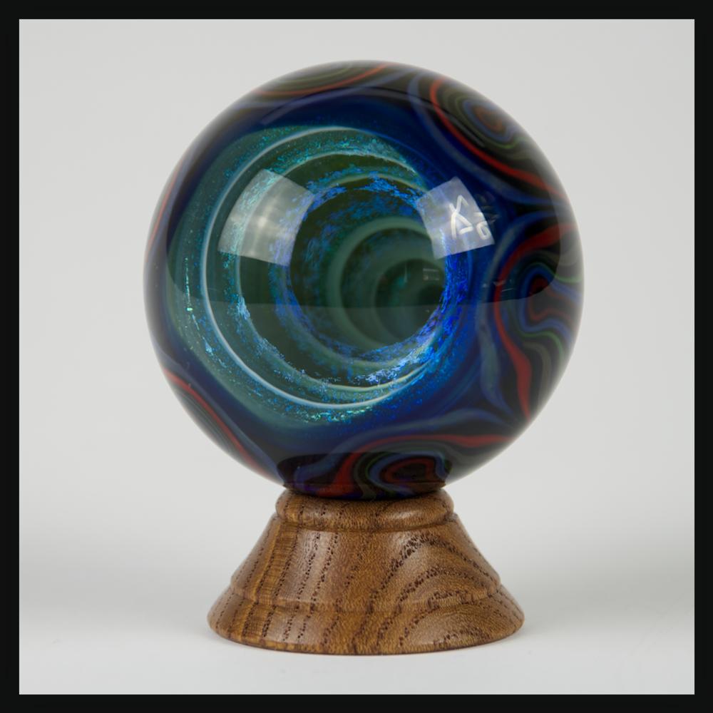 Heady Hunter Borosilicate Glass Art Gallery | David Sigler Dichroic Vortex Marble (A)