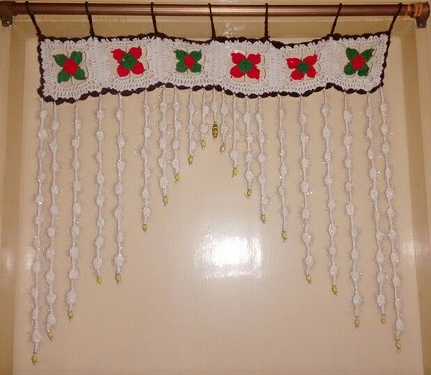 Crochet toran bunting home decor hanging curtain beads puff crochet toran bunting home decor hanging curtain beads puff stitch teraionfo