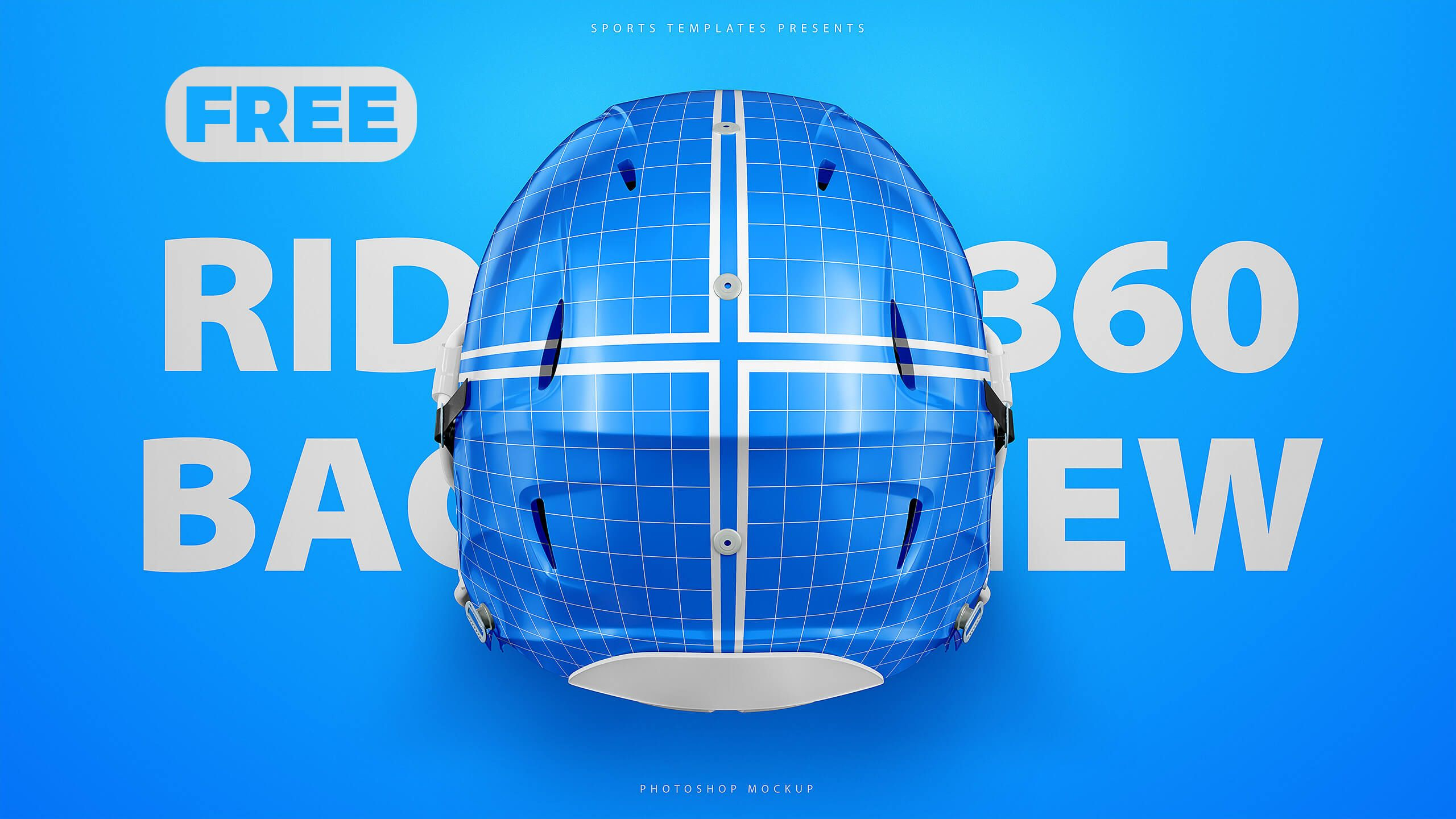 Riddell SpeedFlex Helmet 3 Views Mockup Sports Templates