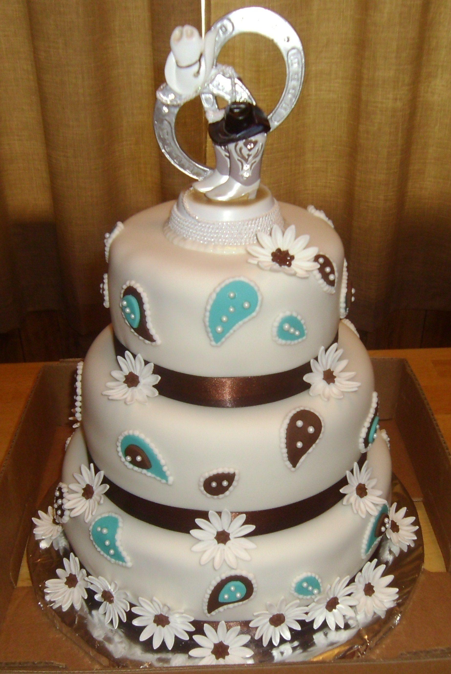 Western style wedding cake | Tapia\'s Cakes | Pinterest | Wedding ...