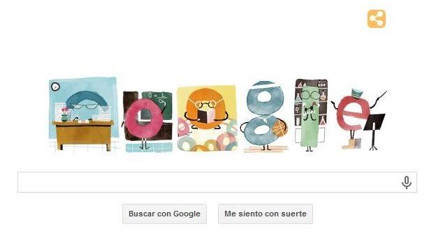 """15 DE ABRIL DE 2014: DIA DEL MAESTRO - """"Google celebra el Día del Maestro recordándonos lo bello de la escuela. ..  El buscador creó un 'doodle' muy colorido para festejar a los profesores mexicanos que celebran su día cada 15 de mayo en México"""". .."""