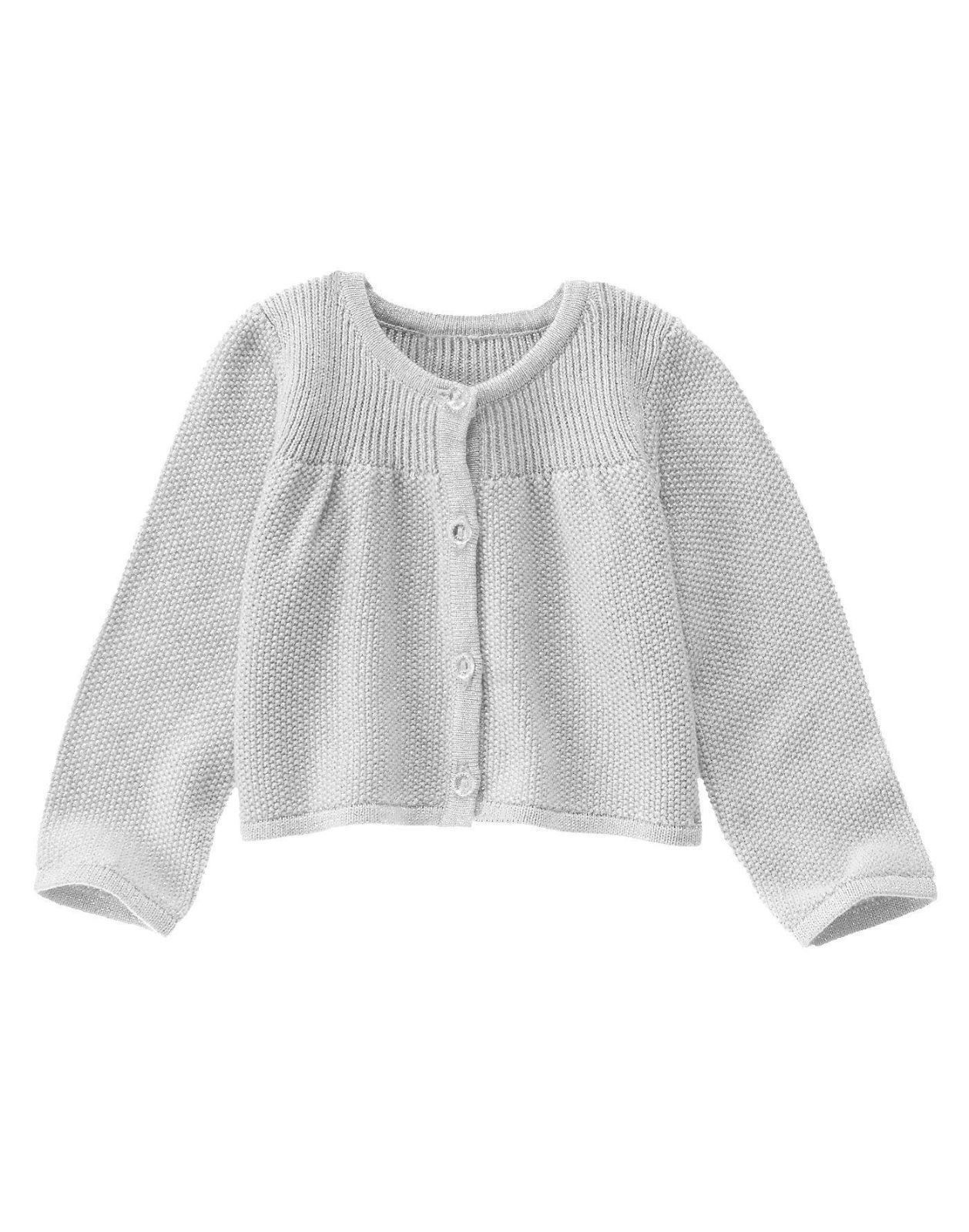 b29bf4fe0a0 NWT Gymboree BELLES AND BOWTIES Baby Girls Silver Holiday Cardigan Sweater  3-6M
