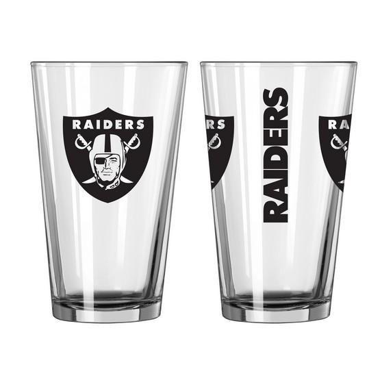 Oakland Raiders 3D Logo Pint Glass