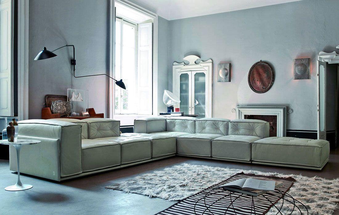 Divano ovale ~ Doimo salotti pelle divano design angolo modello glamour living