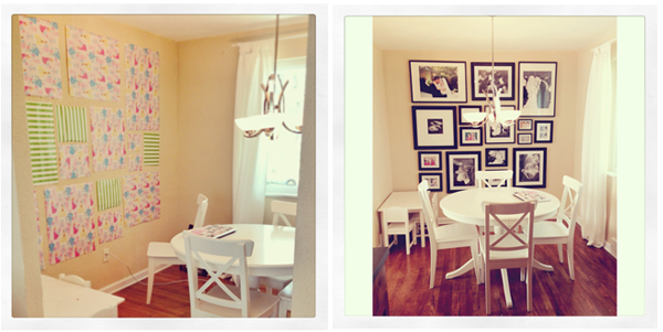 The Busy Budgeting Mama: Black And White Gallery Wall Up In Kitchen!