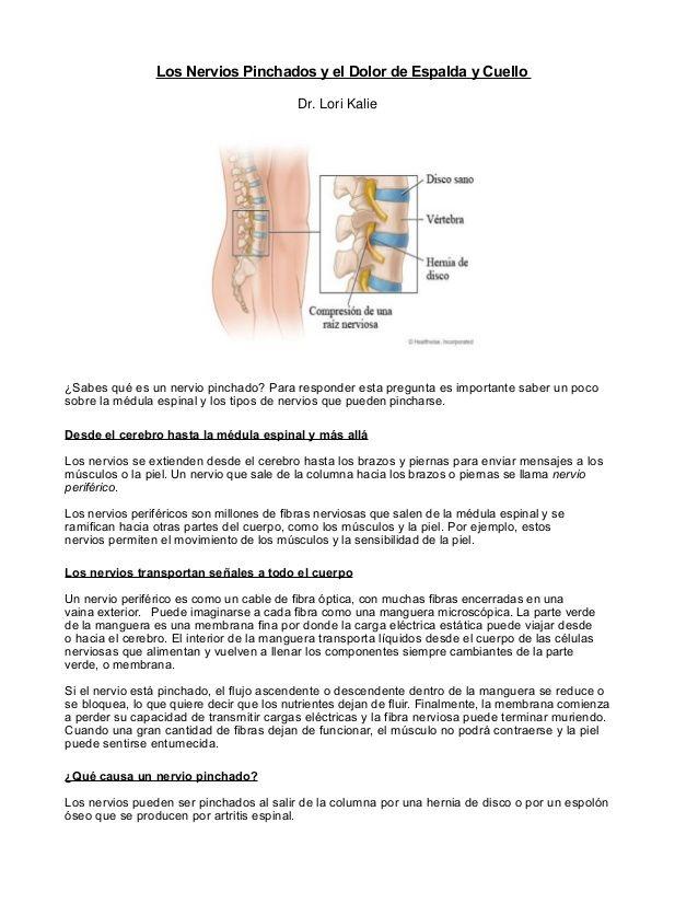 Los Nervios Pinchados y el Dolor de Espalda y Cuello ¿Sabes qué es ...