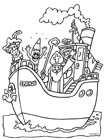 pakjesboot kleurplaten sinterklaas thema