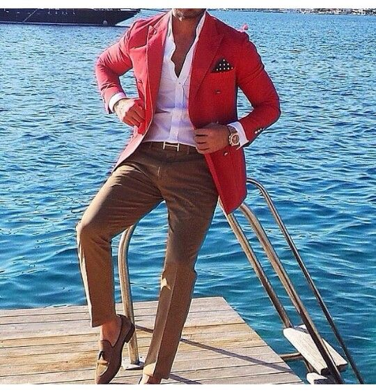 #MenWithClass | Fashion | Style, Red sports coat, Mens fashion