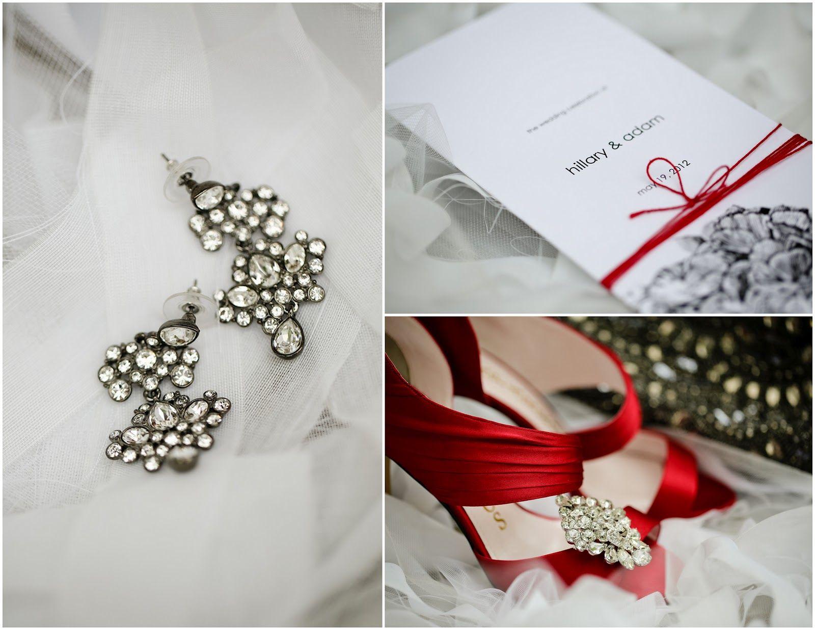Black white tie red maroon wedding theme inspiration sparkle classic ...