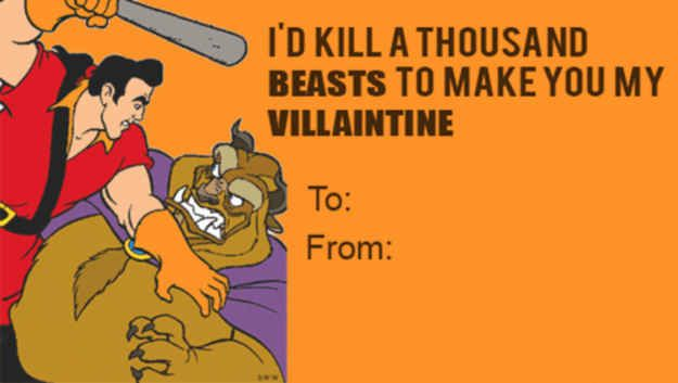 21 wicked disney valentineu0027s day cards from your favorite villains goofy valentines