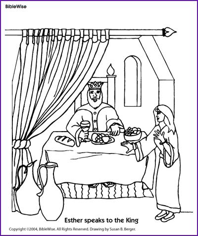 Coloring (Esther Speaks to the King) - Kids Korner - BibleWise ...